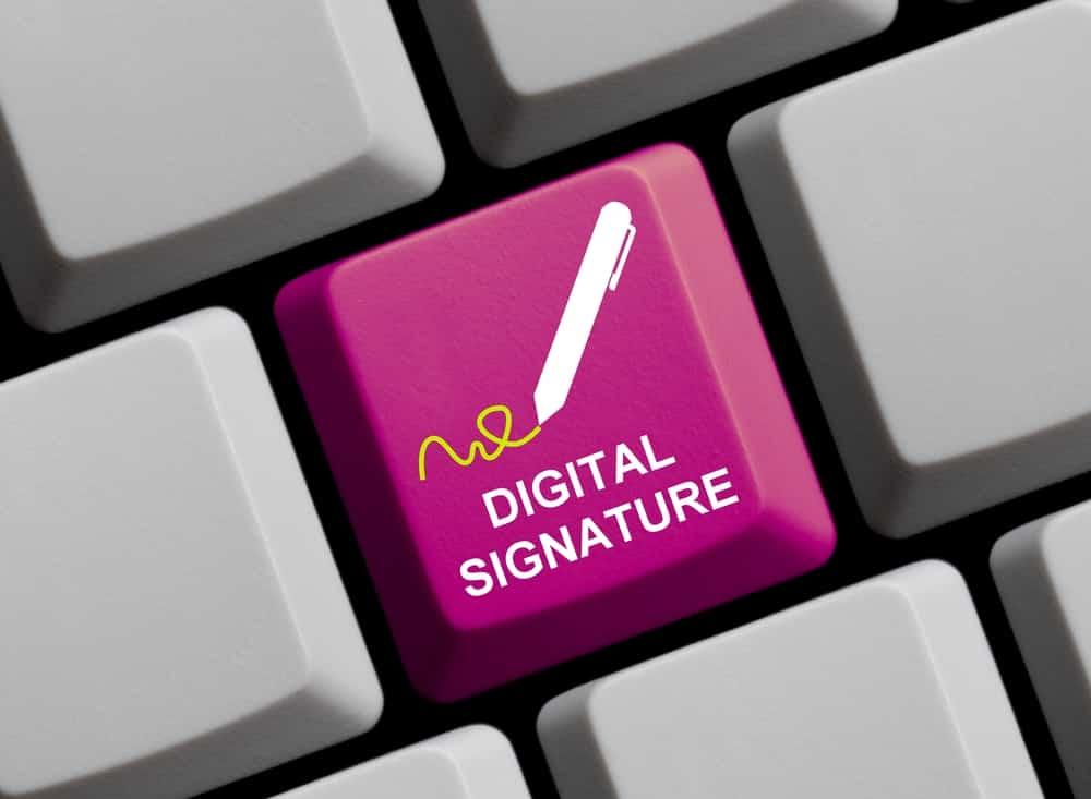 Assinatura eletrônica vs uma assinatura digital.